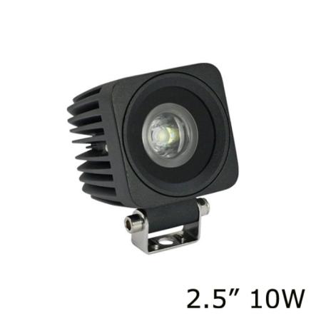 Универсальная квадратная мини светодиодная LED фара 10W ватт ближний свет