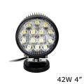 Универсальная круглая светодиодная LED фара 42W ватт ближний свет