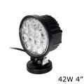 Универсальная круглая светодиодная LED фара 42W ватт дальний свет