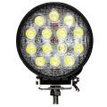 Универсальная круглая светодиодная LED фара 42W ватт комбинированный свет